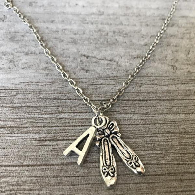 Personalized Ballet Slipper Dance Necklace