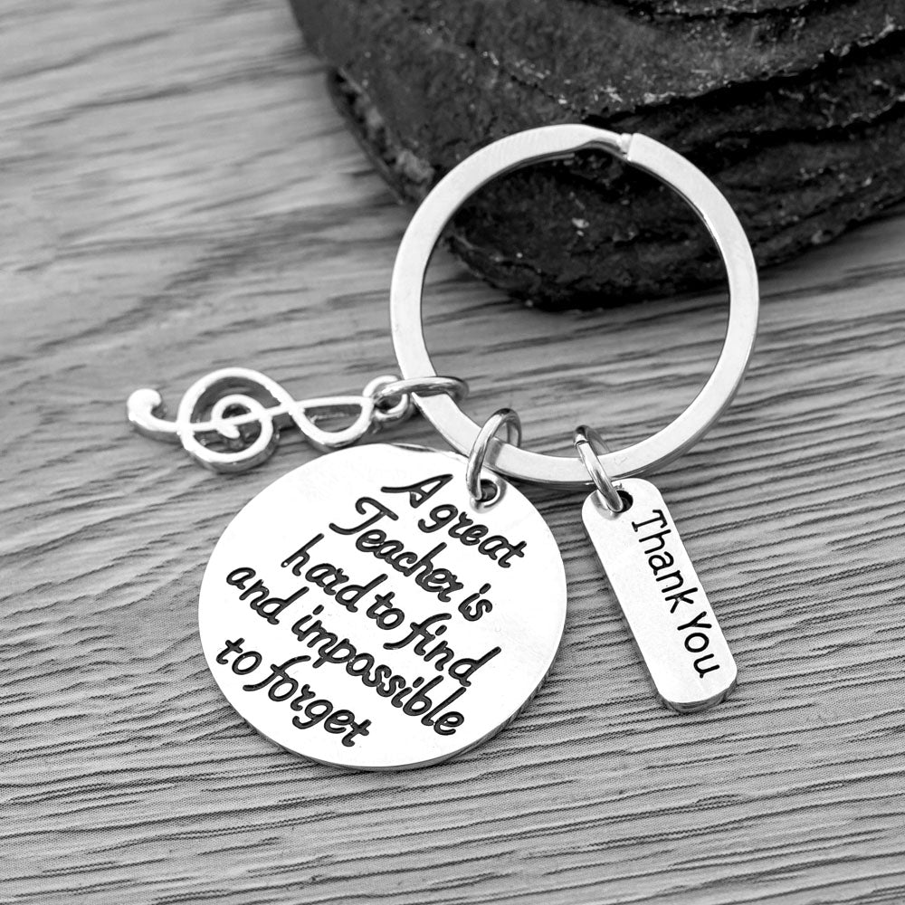 Music Great Teacher Is Hard to Find Keychain