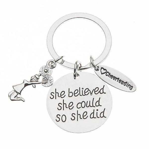 Cheer She Believed She Could So She Did Keychain - Sportybella