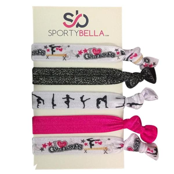 Girls Gymnastics Hair Ties Set - Sportybella