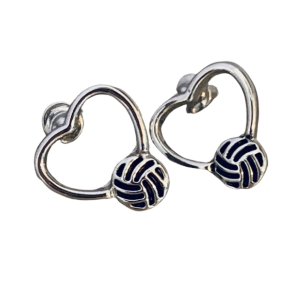 Volleyball Heart Stud Earrings