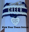 Cheer Mom Bracelet- Pick Team Colors - Sportybella