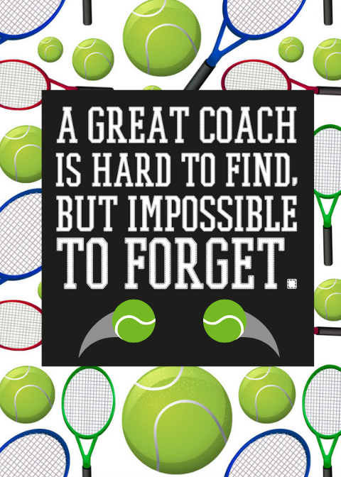 Tennis Coach Card