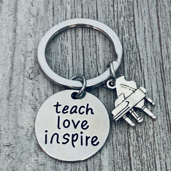 piano teacher keychain
