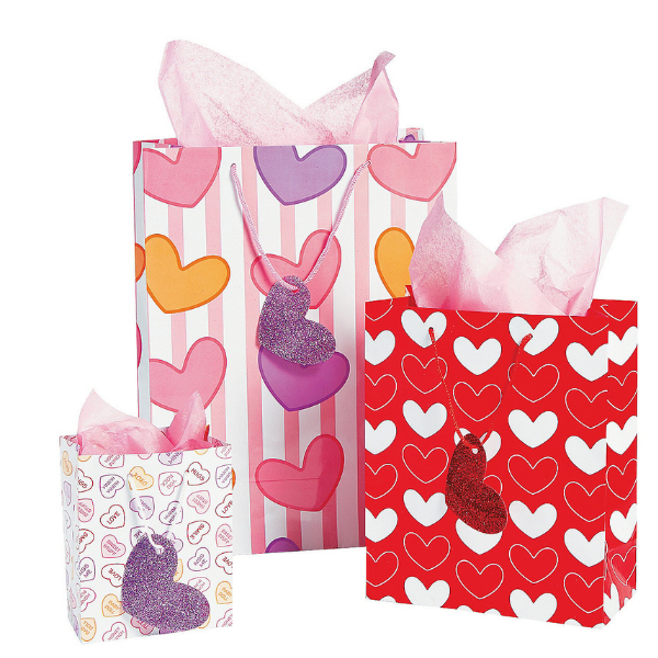 valentines gift bag Heart Gift Bag - 3 sizes