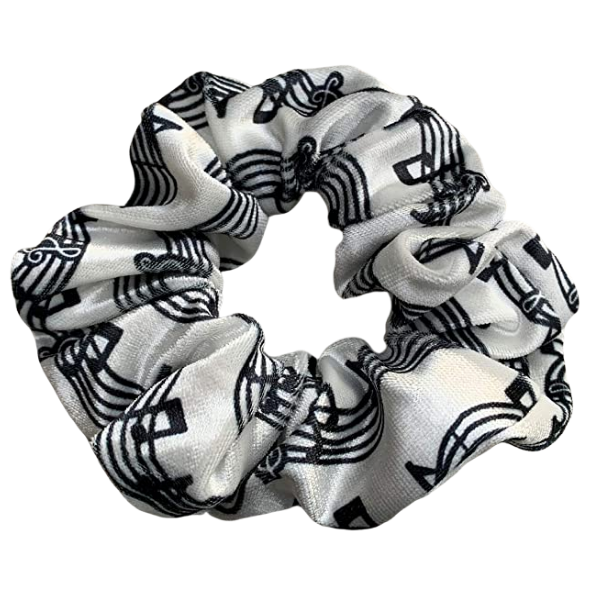 Music Premium Velvet Scrunchie