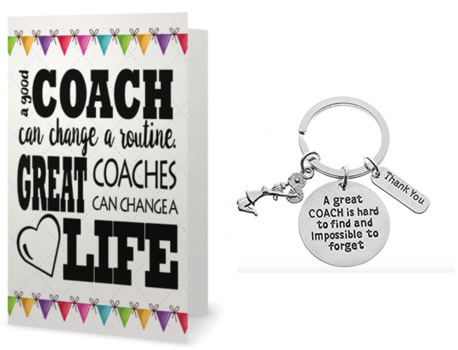 Cheer Coach Keychain & Card Gift Set