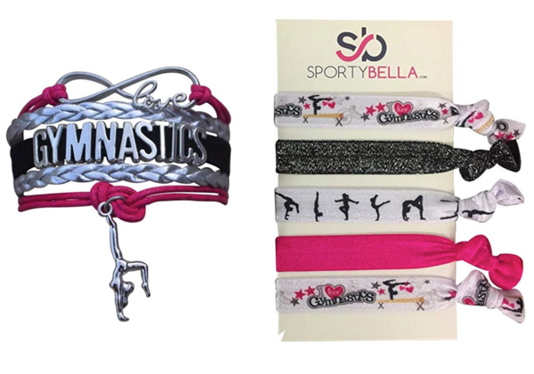 Gymnastics Bracelet and Hair Tie Gift Set