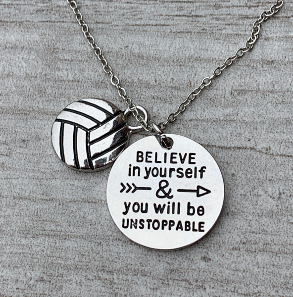 Volleyball Believe In Yourself Necklace