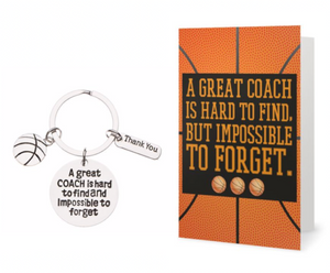 Basketball Coach Keychain & Card Bundle - Sportybella