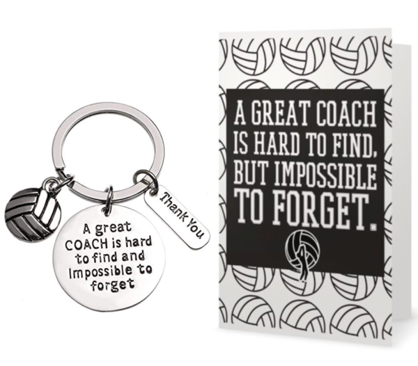 Volleyball Coach Keychain & Card Gift Set