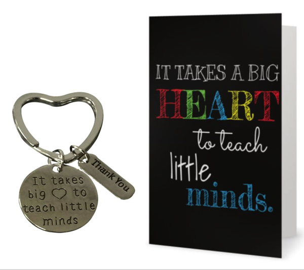 Teacher Keychain and Card Gift Set