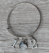 Personalized Volleyball Bracelet- Number Charms