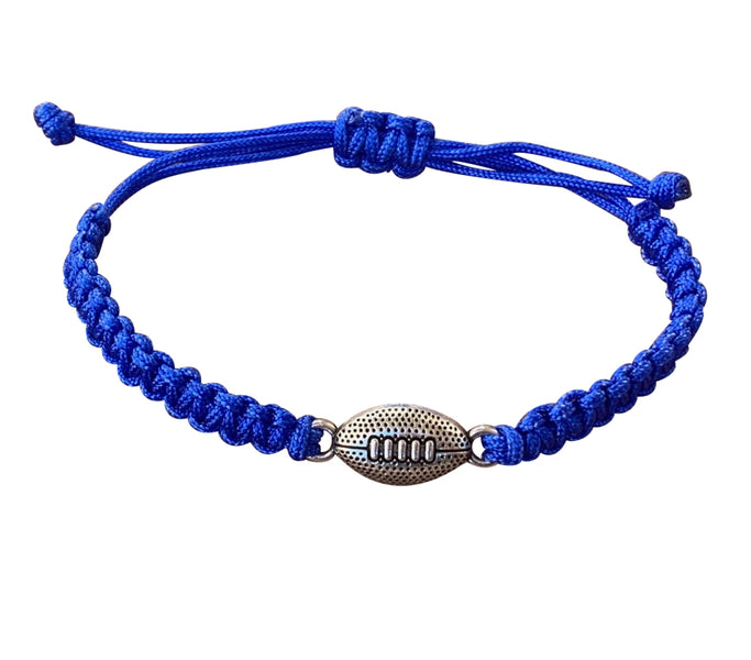 Football Rope Bracelet - Blue