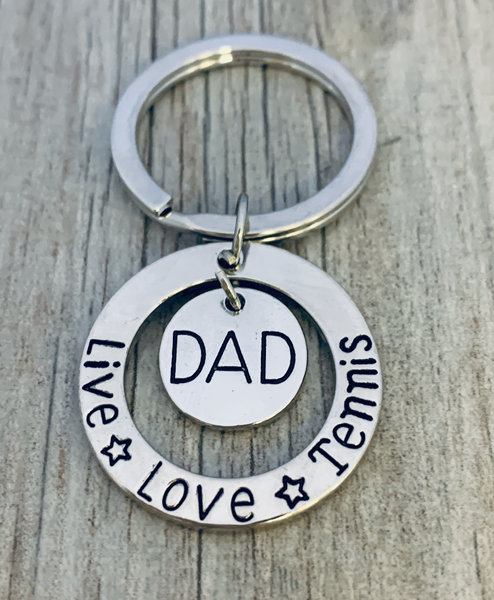 Tennis Dad Keychain - Live Love Tennis