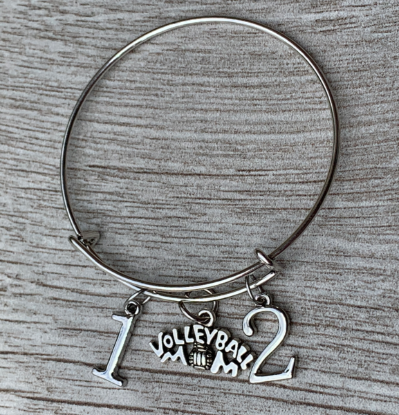 Volleyball Mom Number Bracelet