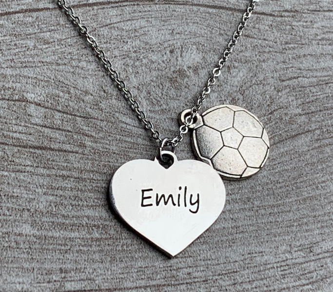 Soccer Engraved Necklace