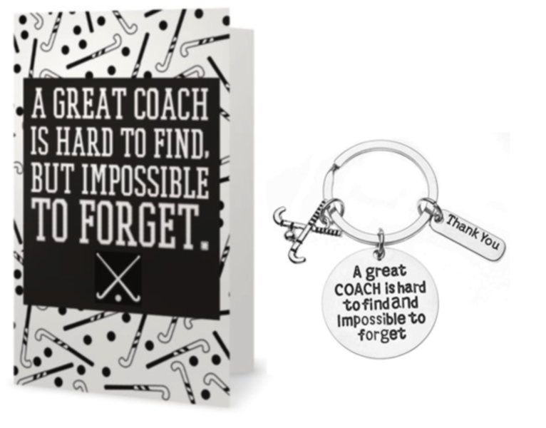 Field Hockey Coach Keychain & Card Gift Set