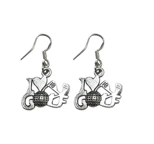 Golf Charm Earrings