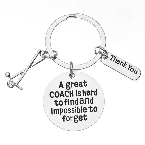 Golf A Great Coach is Hard to Find But Impossible to Forget Coach Keychain