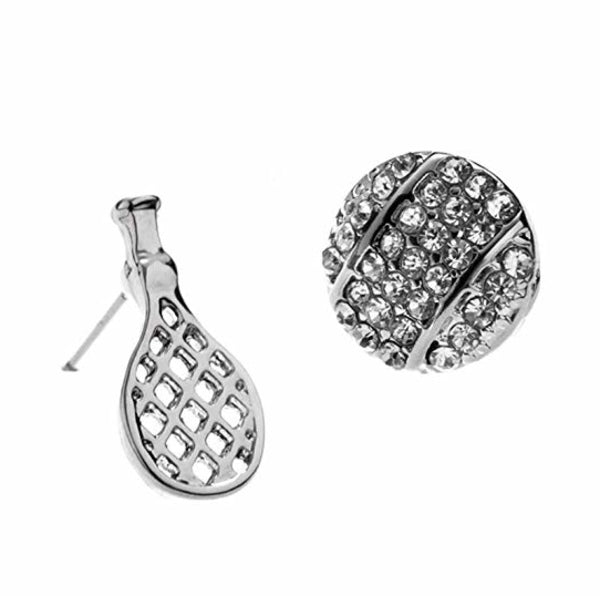 Tennis Racket and Ball Stud Earrings