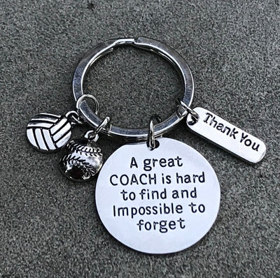 Softball- Volleyball Great Coach is Hard to Find Keychain