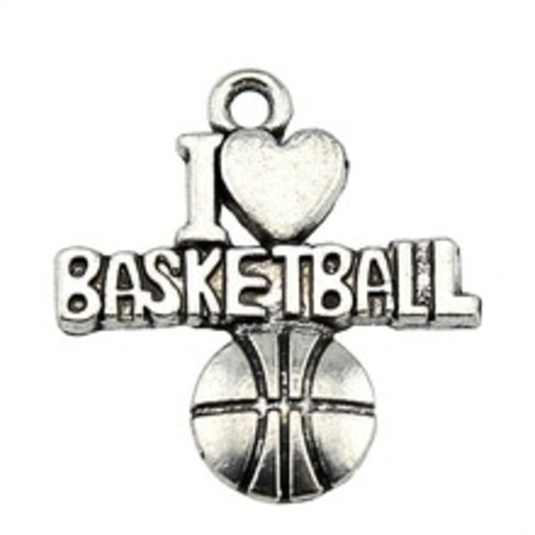 Love Basketball Charm