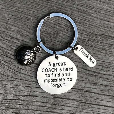 Basketball Great Coach is Hard to Find Coach Keychain - Sportybella