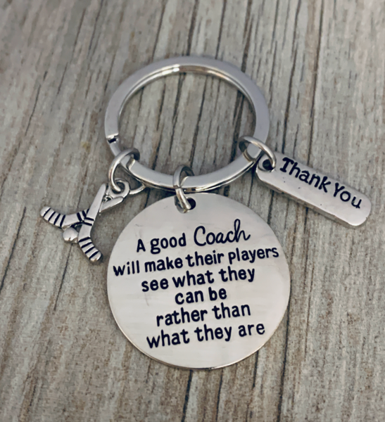 Ice Hockey Coach Keychain - See What They Can Be