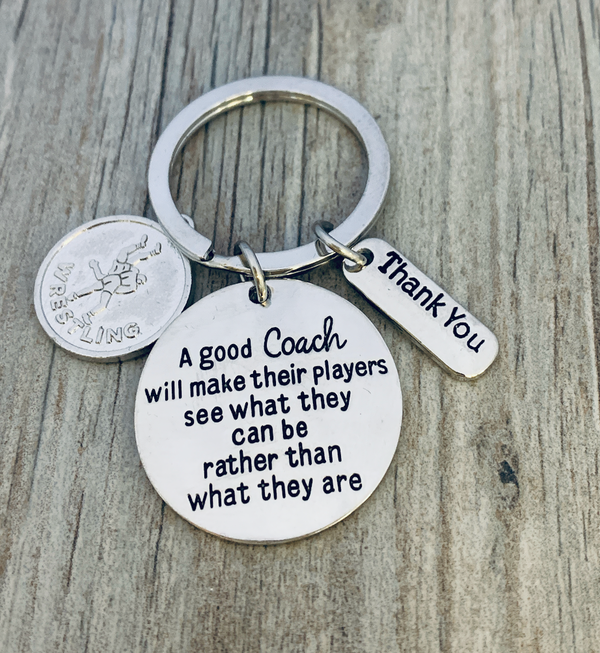 Wrestling Coach Keychain - See What You Can Be