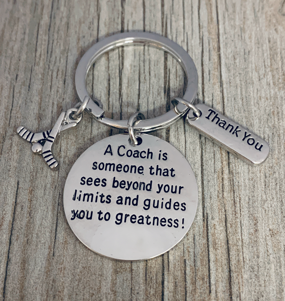 Ice Hockey Coach Keychain - Sees Beyond Your Limits and Guides You to Greatness