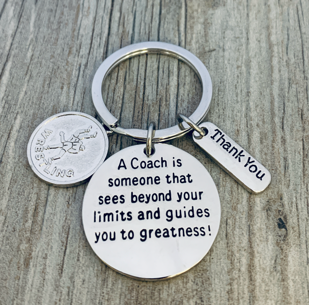 Wrestling Coach Keychain - Sees Beyond Limits