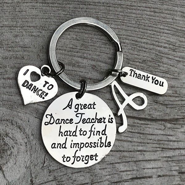 Personalzied Dance Great Teacher is Hard to Find Keychain