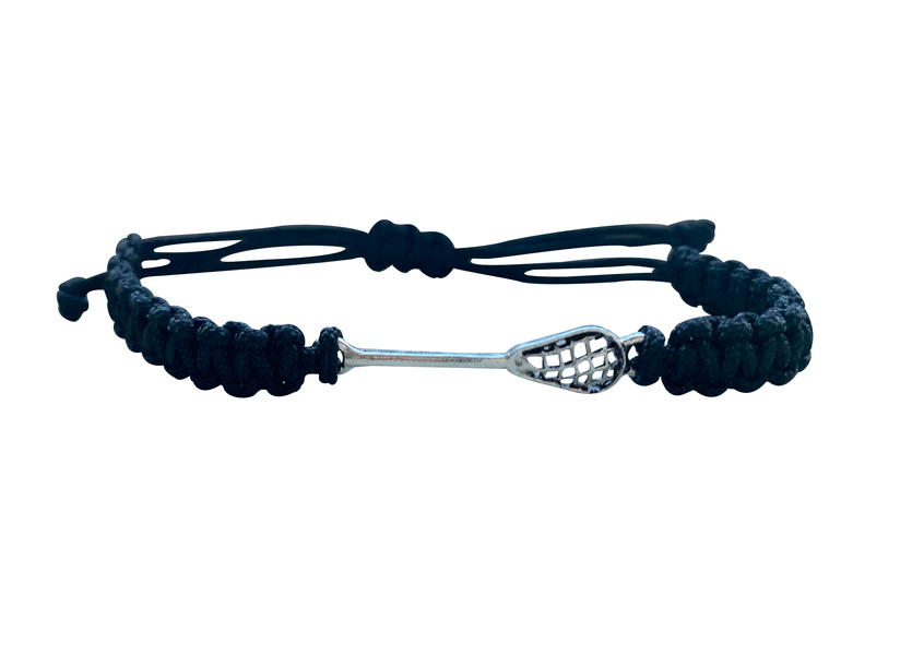Lacrosse Adjustable Rope Bracelet - Pick Color