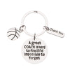 Personalized Basketball Great Coach is Hard to Find Coach Keychain