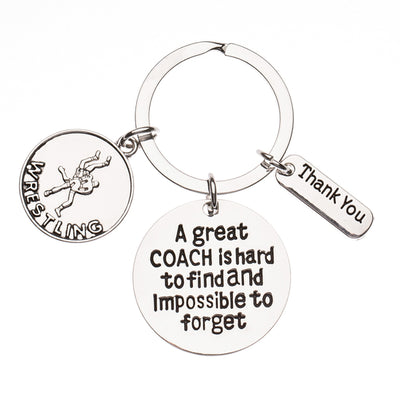 Wrestling Great Coach is Hard to Find Coach Keychain