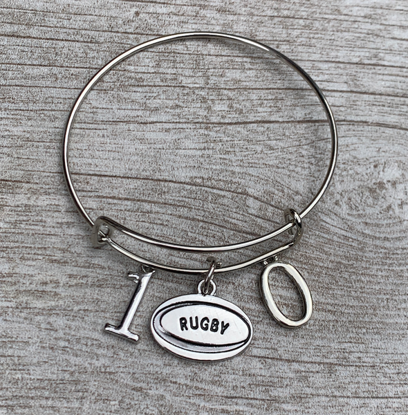 Rugby Bracelet - Personalized Number Bangle