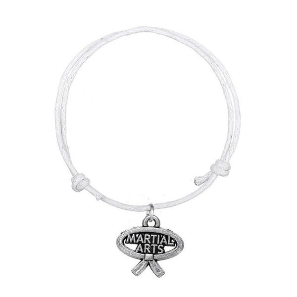 Karate - Martial Arts White Bracelet