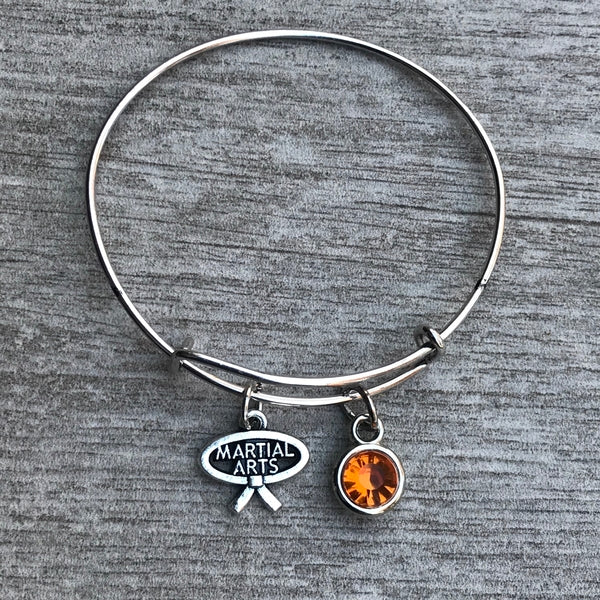 Personalized Martial Arts Charm Bracelet