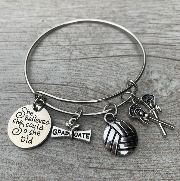Custom Graduation Bracelet - Pick Charms