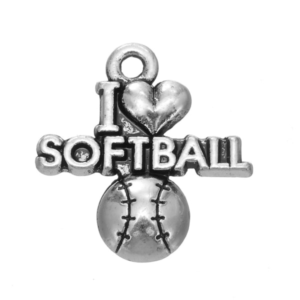 Love Softball Charm