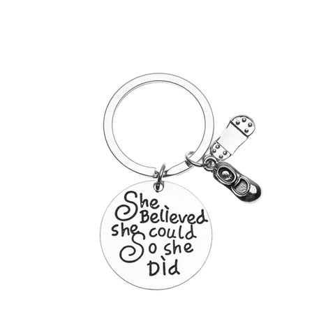 2019 Graduation She Believed She Could Keychain