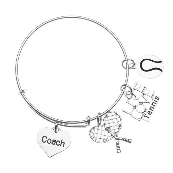 Tennis Coach Bangle Bracelet - Sportybella