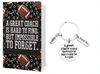 Football Coach Keychain & Card Gift Set