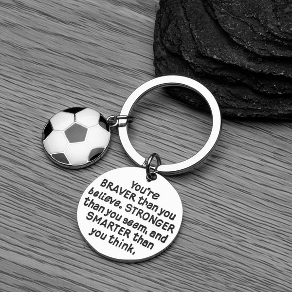 Soccer keychain  Soccer jewelry  Soccer player gift  Best Jewelry gift  Football