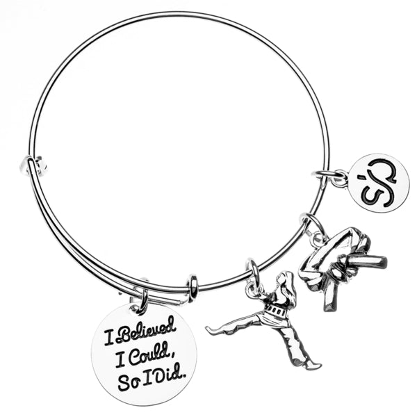 Martial Arts Charm Bangle Bracelet