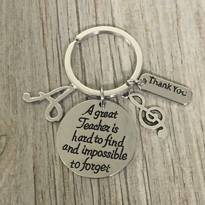 Personalized Music Great Teacher Is Hard to Find Keychain