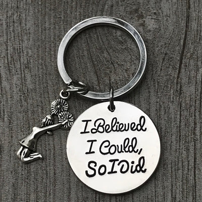 Cheer I Believed I Could So I Did Keychain - Sportybella