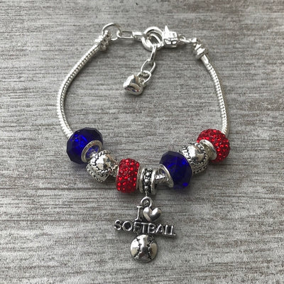 Softball Beaded Bracelet