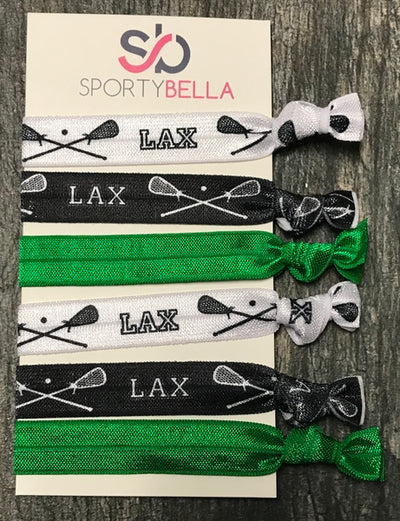 Lacrosse Hair Ties - Green